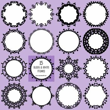 Black and White Frame BUNDLE! Pack 1, 2 & 3 - 45 Frames