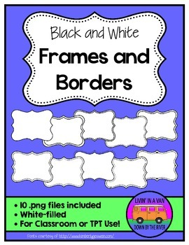 Black and White Frames and Borders