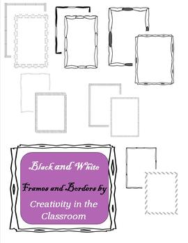 Black and White Frames for Personal or Commercial Use