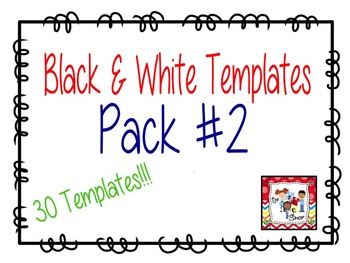 Black and White Game Card Templates Pack #2