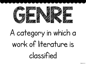 Black and White Genre Posters {4-8 Upper Grades/Middle School}