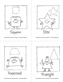 Black and White Geometric Shapes 4 on Every Page