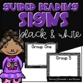 Black and White Guided Reading Group Posters