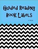 Black and White Guided Reading Level Book Labels