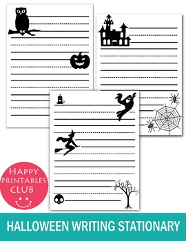 Black and White Halloween Writing Papers