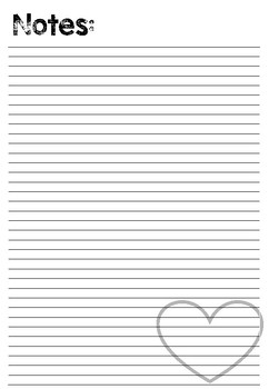 Black and White Heart Planner/Binder 2017/18