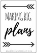 Black and White Homeschool Planner
