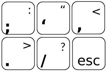 Black and White Keyboard Display - Editable