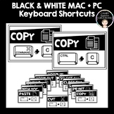 Black and White Keyboard Shortcuts (Mac & PC)