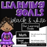 Black and White Learning Goals