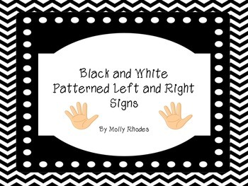 Black and White Left and Right Posters