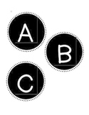 Black and White Letter Labels