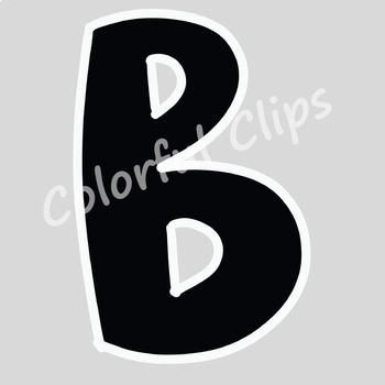 Black Lettering - Colorful Clips
