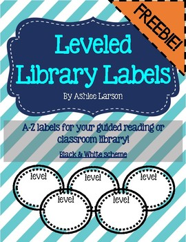Black and White Leveled Library Labels