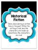 Black and White Literature Genre Poster Set {EDITABLE}