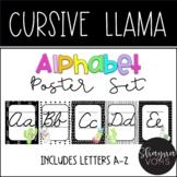 Llama and Cactus Cursive Alphabet