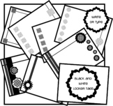 Black and White Locker Labels Freebie!