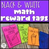 Black and White Math Reward Tags