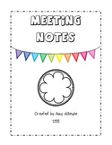 Black and White Meeting Notes Freebie