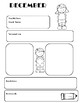 Black and White Monthly Worksheet Set (Blank Copies Included)