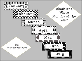Black and White Months of the Year