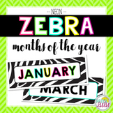 Neon Zebra Months of the Year