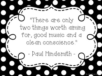Music Quote Posters- Black and White