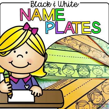 Black and White Name Plates