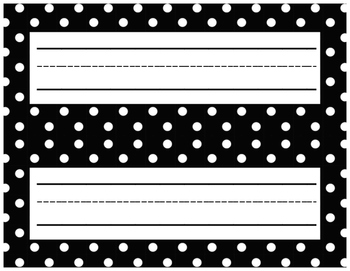 Black and White Name Tags