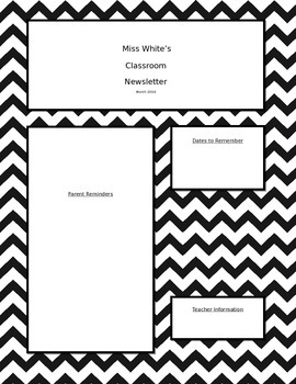 Black and White Newsletter Template (Editable)