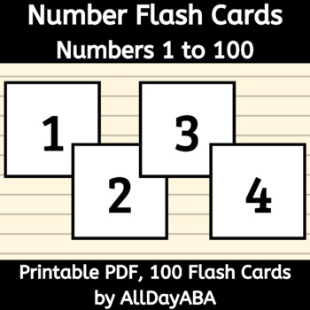 This is a picture of Printable Number Cards 1 100 with numeral