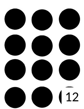 Black and White Number Labels