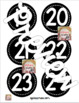 Black and White Number Labels (Circular)