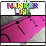 Black and White Number Line -20-200