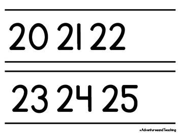 Black & White Number Line 0-120
