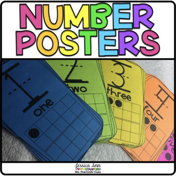 Black and White Number Posters 1-20