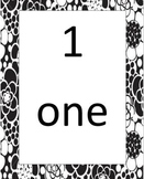 Black and White Number Word Cards 1-20