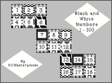 Black and White Numbers 1 - 100