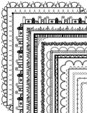Black and White Page Borders