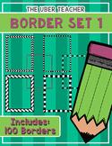Borders Set 1, Huge set of Transparent PNG page borders