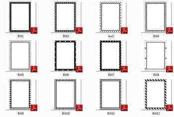 Black and White Page Frames