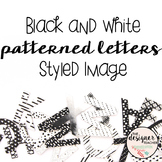 Styled Image: Black and White Patterned Letters