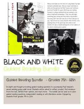 Black and White Paul Volponi Guide Reading Questions Bundle Chapters 1-17