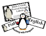 Black and White Penguin Subject Labels #AUSBTS18