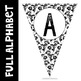 Black and White Pennant Banner