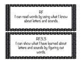 "Black and White Polka Dot 3rd grade ""I Can"" ELA and Math C"