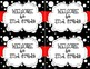 Black and White Polka Dot Back to School Post Card