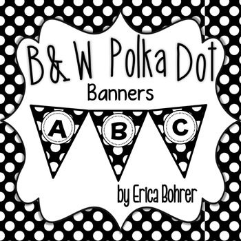 Black and White Polka Dot Banners