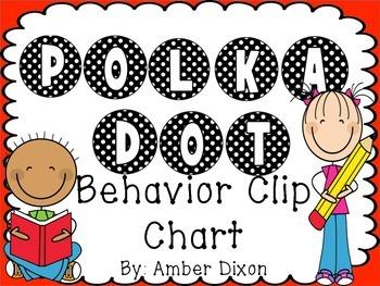 Black and White Polka Dot Behavior Clip Chart