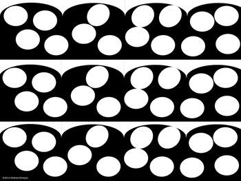 Black and White Polka Dot Border